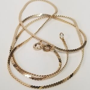 Jewelry - 14k Yellow Gold Serpentine Link Chain Necklace